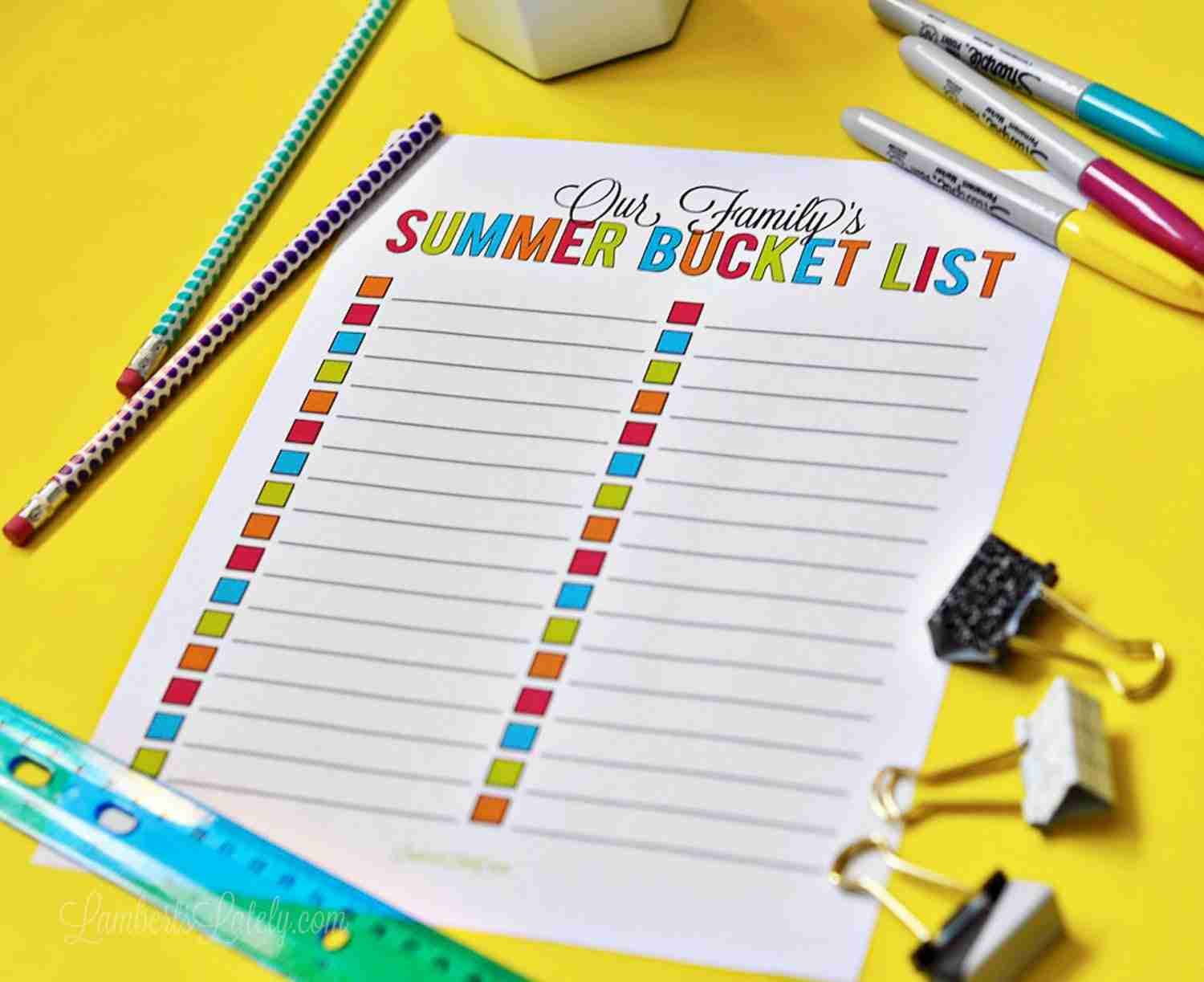 photograph relating to Summer Bucket List Printable identify 101 Recommendations for a Loved ones Summer season Bucket Record ( Printable