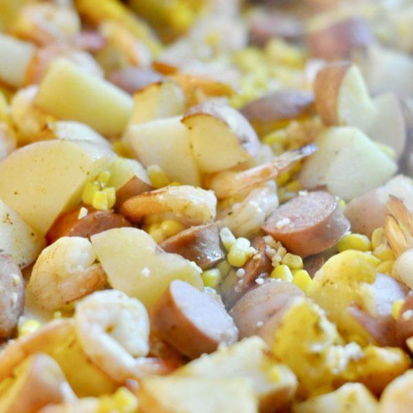 Sheet Pan Shrimp & Sausage Boil (Part 6 – Sheet Pan Dinners Freezer Meal Boot Camp)