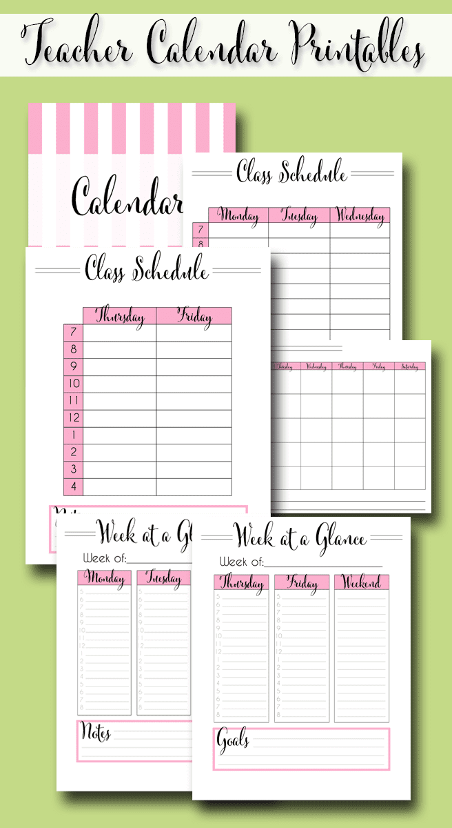 photograph about Free Printable Teacher Planner identify The 2019 - 2020 Supreme Instructor Planner - Absolutely free Printables