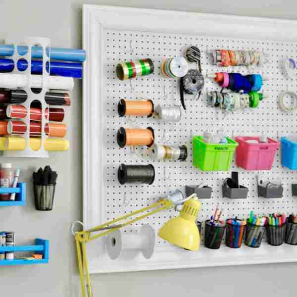 How to Build a DIY Pegboard For a Craft Room