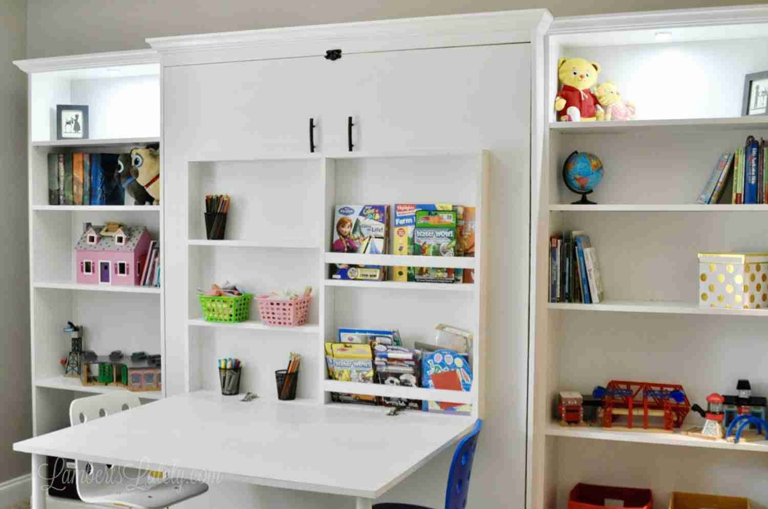 How To Build A Diy Murphy Bed With Desk, How To Add A Desk Murphy Bed