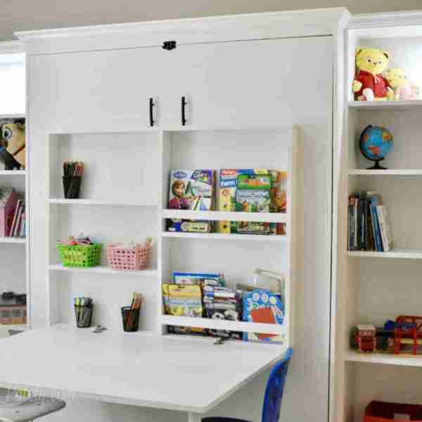 How to Build a DIY Murphy Bed with Desk and Bookcases (Part 2)
