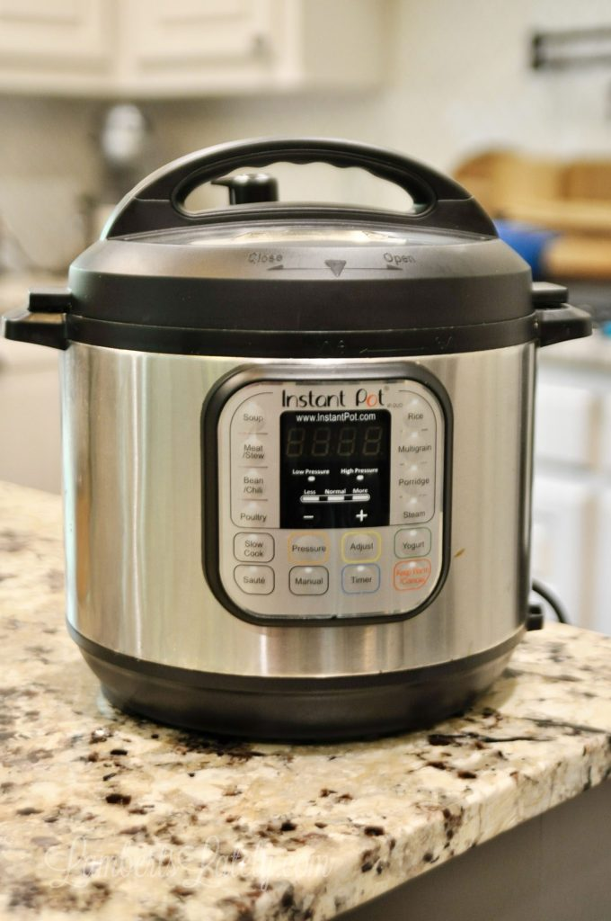 This post shows how to clean an Instant Pot with a simple vinegar and water solution (and even what you can and can't put in the dishwasher). See how to clean the lid, base, and inside easily.