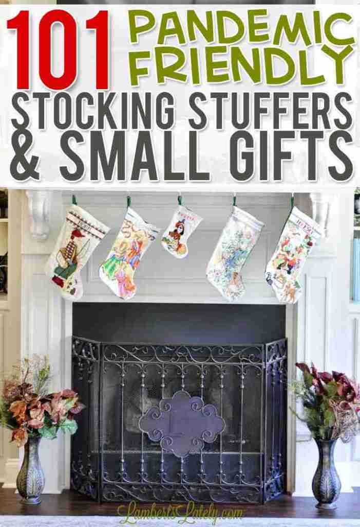 This list of over 100 small gifts / stocking stuffers is perfect during a pandemic! This quarantine collection has ideas for women and men…even a few ideas for kids or teachers.