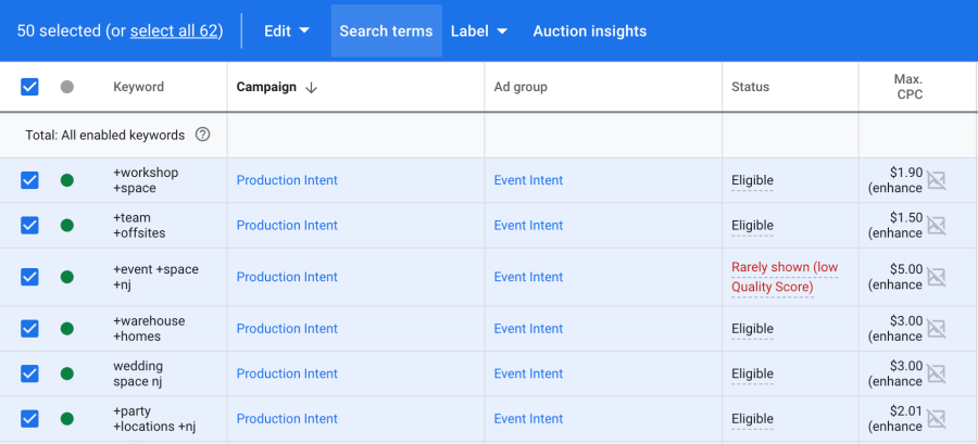 query mapping report in google ads