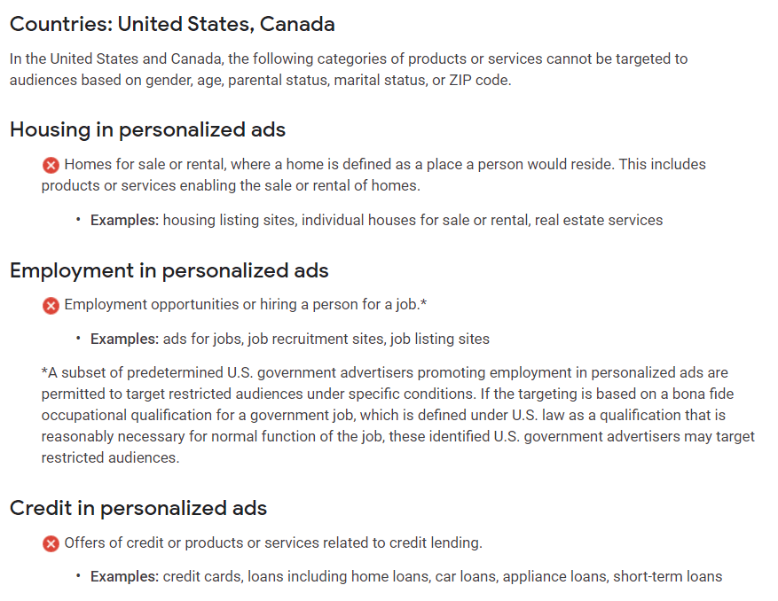 google ads hec policy