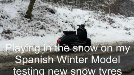 lambretta Winter Model in the snow