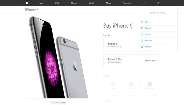 Apple убрала со своего сайта вкладку с магазином