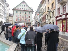 LAMC taking a guided tour or Lucerne