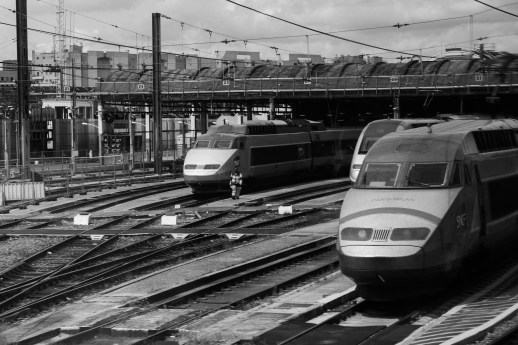 Train station coming into Paris