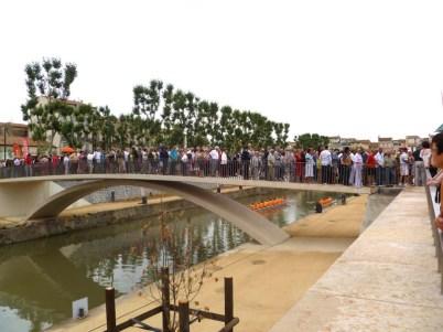 14 juillet 2013 : inauguration de la passerelle des Barques