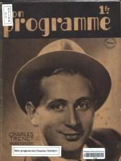 « Mon programme : Charles Trénet » (1938) MGN fonds local 782.092 TRE