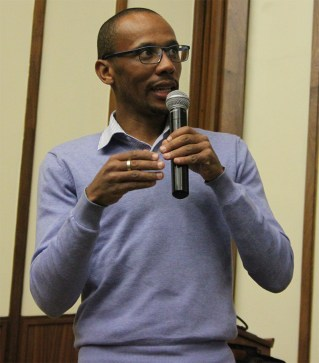 STATISTICALLY SPEAKING: Hugo Canham of the Transformation Office used statistics to explain the changes in demographic representation at Wits University. Photo: Lameez Omarjee