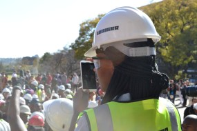 SELFIE?: Witsies collecting footage to share on social media. Photo: Lameez Omarjee