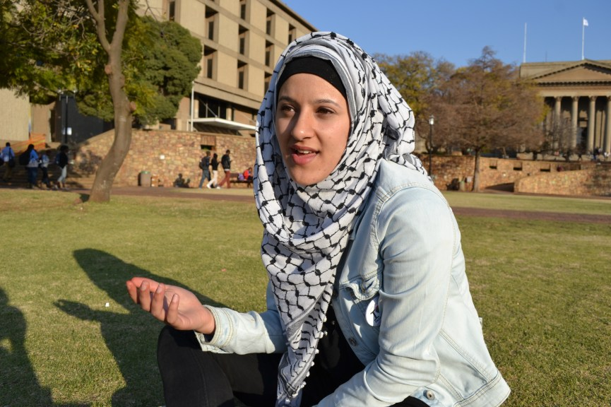 STUDENT LEADER: Young Muslim woman, Naeema Hussein says wearing her hijab makes her feel protected at all times and much of her thoughts and opinions about society are influenced by her faith. Photo: Lameez Omarjee