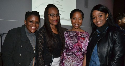 INSPIRED: Students and young women starting their careers were inspired by Nonkululeko Shezi's story about overcoming obstacles in her career. From left: Nondumiso Mbambo, legal intern, Michelle Gowere,1st year BAccSci, guest speaker Nonkululeko Shezi and Thandekile chiliza, candidate attorney. Photo: Lameez Omarjee
