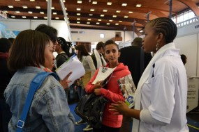 WHAT WE'RE LOOKING FOR: Wits university students from across all faculties had an opportunity to network with potential employers and discover different fields of work to go into after they graduate. Photo: Lameez Omarjee