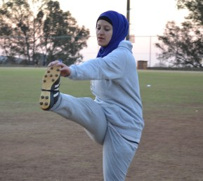 FOOTIE TALENT: Naeema Hussein says her passionate Egyptian blood is the reason she is soccer crazy and she takes credit for initiating playing in a hijab at Wits University. Photo: Lameez Omarjee