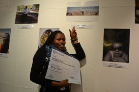 WINNER: Ntokozo Xaba, 3rd year BSc Urban and Regional planning, was announced this year's winner of the Transformation Office Identity Through Hair photography competition, last night at the John Moffat auditorium, Wits University. Photo: Lameez Omarjee
