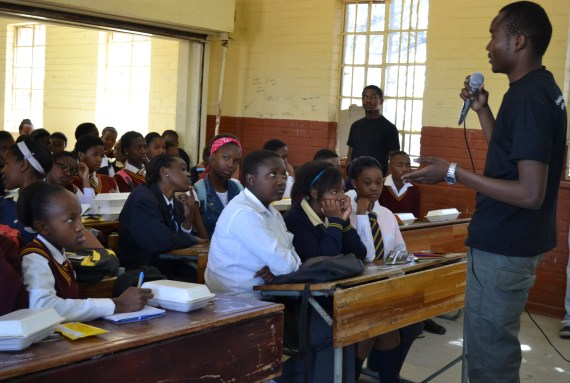PLAN A: Wits masters students hosted a career day at Morris Isaacson Secondary School in Soweto yesterday,after they identified a need to make information about career options more accessible to high school students from underprivileged areas. Photo: Lameez Omarjee