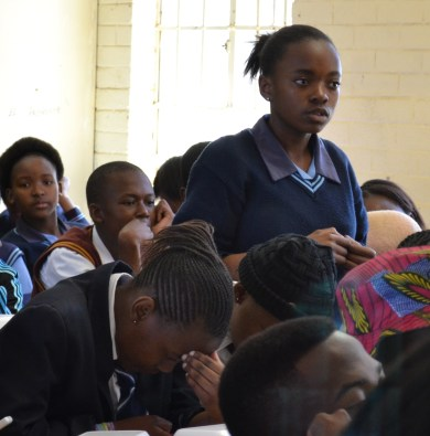 INQUISITIVE MINDS: High school students were given opportunities to ask Wits masters students career advice at the Career Day held at Morris Isaacson Secondary school on Saturday, September 6. Photo: Lameez Omarjee