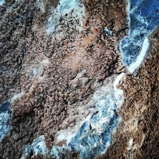Detalle de las rocas características del lugar.