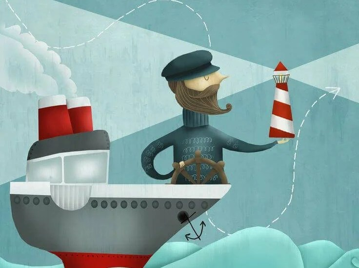 marinaio e barca