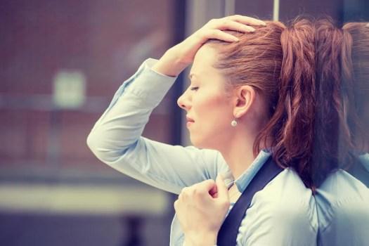 Mujer frustrada