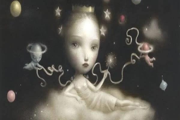 rostro infantil con estrellas