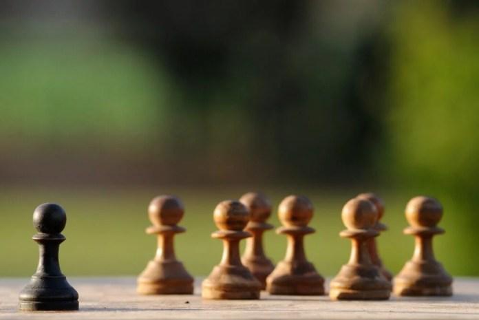 Peões de xadrez