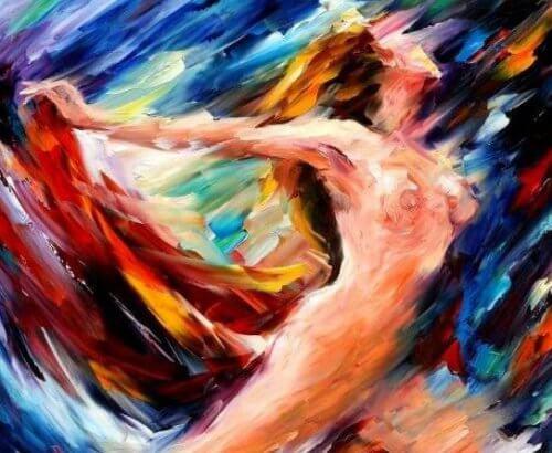 Mujer desnuda y liberada