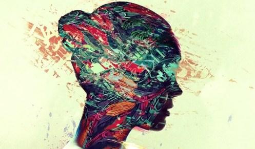Perfil de cabeza de mujer simbolizando las frases de Charles Bukowski
