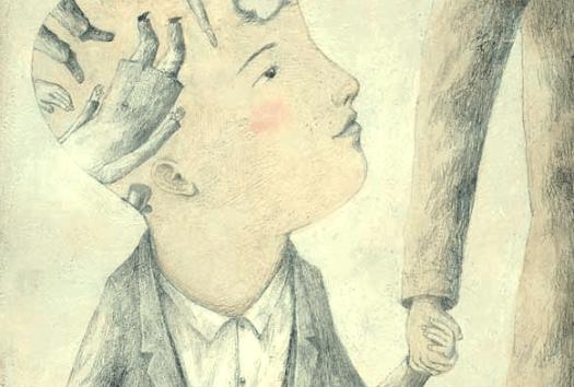 niño con dibujos simbolizando la edad emocional del desamor