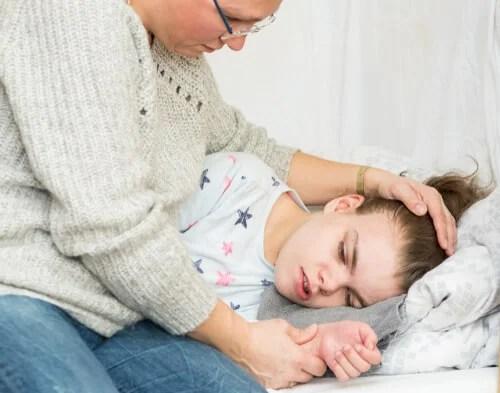 Niña con crisis epiléptica