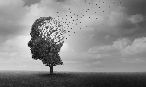 Árbol con la cabeza de una persona