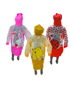 Impermeable Infantil de Animalitos de Color