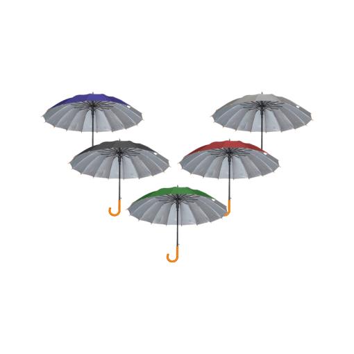 Sombrilla de Bastón Con Filtro Solar de Color