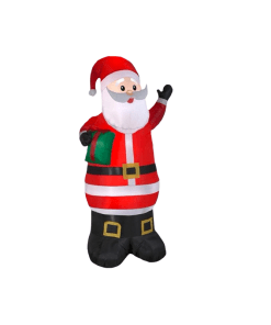 Inflable Navideño Santa Claus C/ Regalo Luz Led