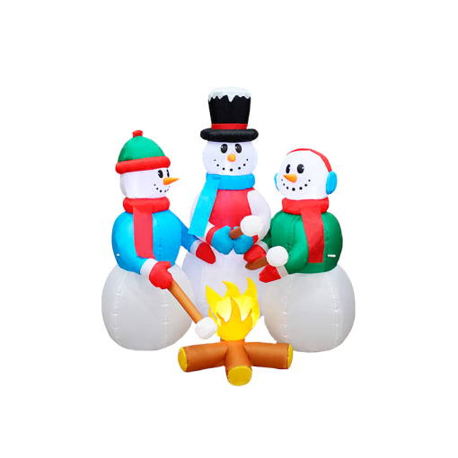 Inflable Muñecos de Nieve Navideño Luz Led