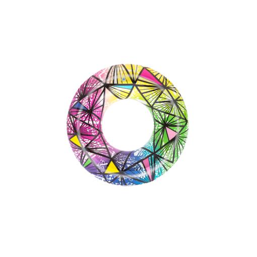 Inflable Flotador Forma Dona Patrones Multicolor