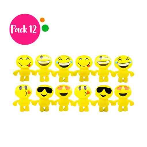 Paquetede 12 Inflables en Forma de Emoji.