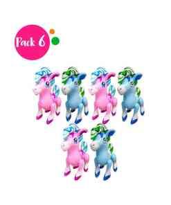 Paquete de 6 Inflables en Forma de Pony