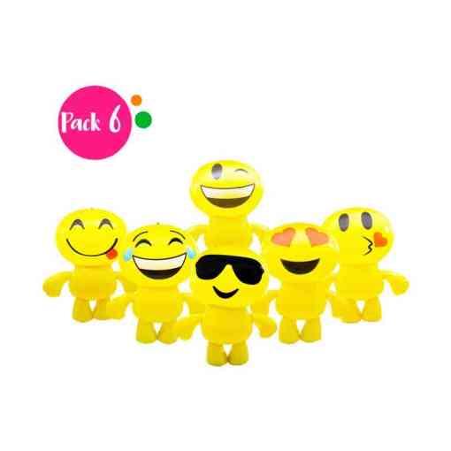 Paquete de 6 Inflables en Forma de Emoji