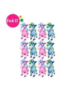 Paquete de 12 Inflables en Forma de Pony