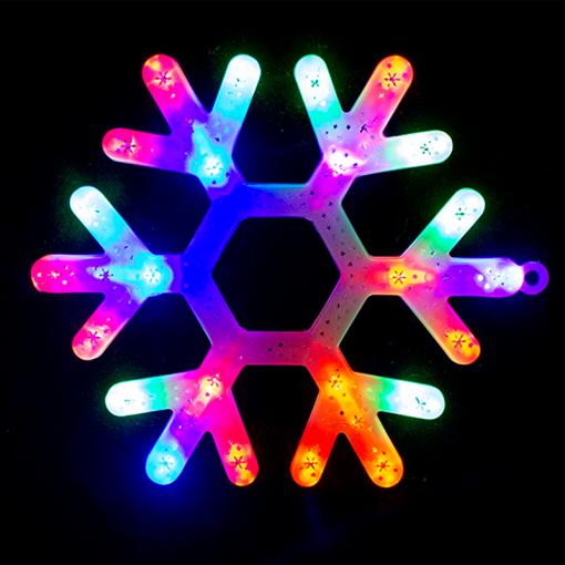 Letrero Navideño Luz Led Copo Multicolor