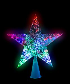 Estrella Punta De Arbol Navideño Luz Multicolor