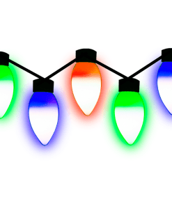 Serie Navideña Bombillas Luz Multicolor 3.8 Mts