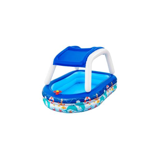 Alberca Inflable Infantil Lancha Con Techo