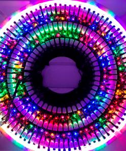 Serie Navideña 200 Focos Luz Multicolor 9 Mts