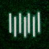 Serie Navideña Lluvia Luz Blanca 8 Tubos 2.23 Mts